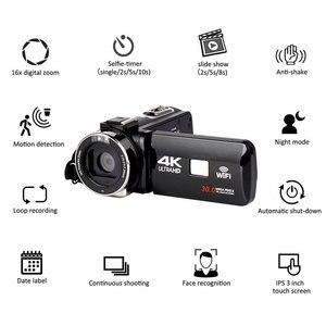 Image 1 - Full HD 4K Video kamera Wifi el DV profesyonel gece görüş Anti Shake dijital fotoğraf kamerası kamera akış sabitleyici