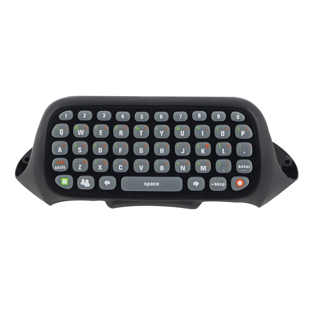 Wireless Controller Text Messenger Keyboard QWERTY Chatpad Keypad for Xbox 360 Game Controller Black With retail packaging image
