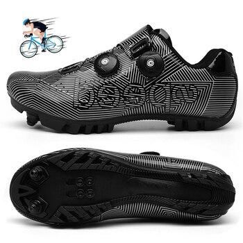 Mtb ciclismo sapatos homem competição de corrida profissional estrada mountain bike equitação sapato tênis ao ar livre auto-lock hombre 1