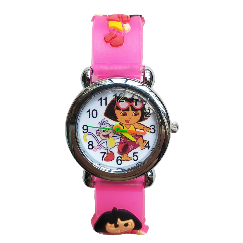 2019 New Children's Watch Beautiful Girl Dora Pattern Student Birthday Gift Silicone Kids Watches Q Version Of Child Pat Clock