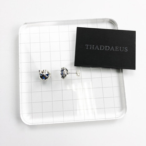 Image 2 - Stud Earrings Dark Blue Lotus,Thomas Style Glam Fashion Good Jewerly For Women,2017 Ts Gift In 925 Sterling Silver,Super Deal