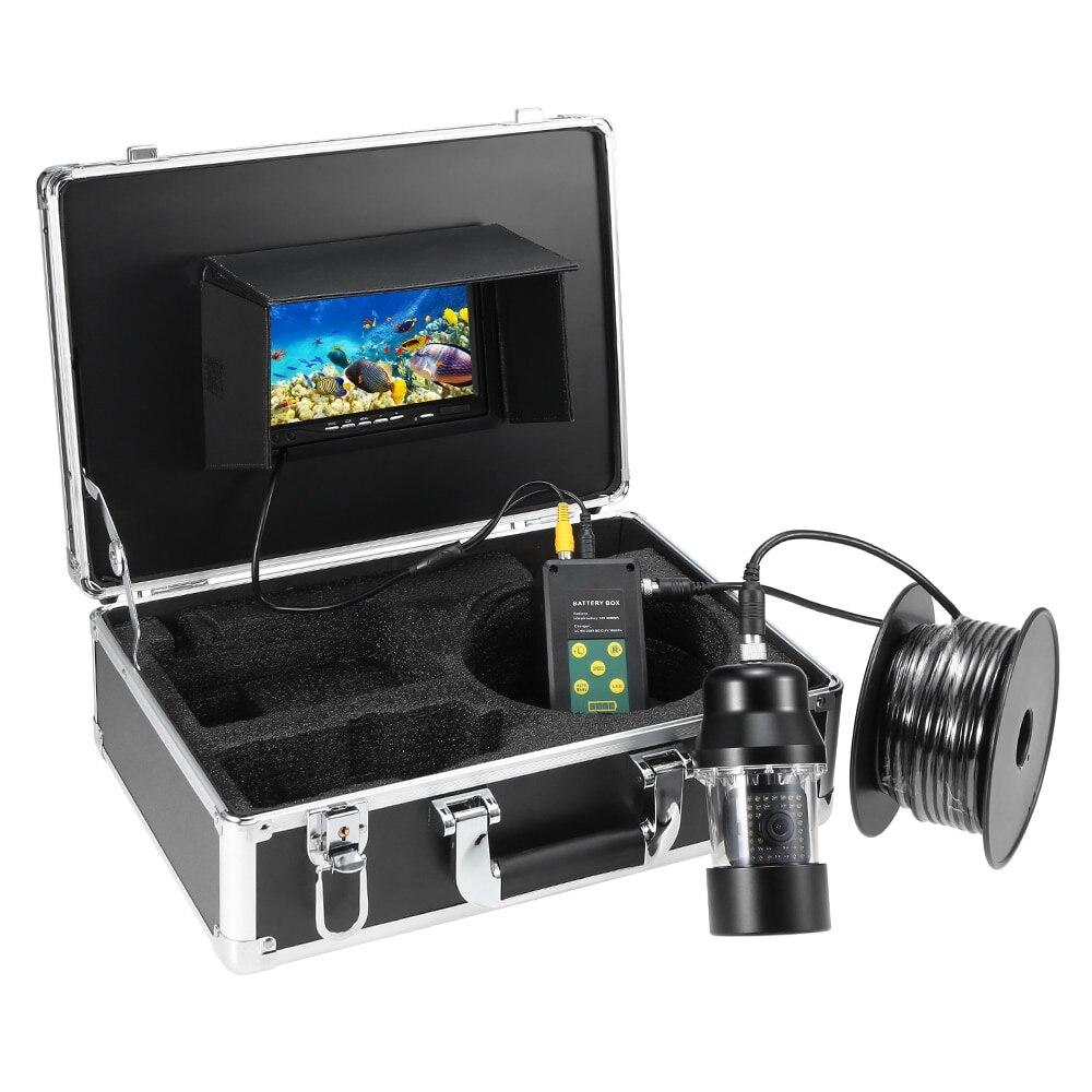 7 ''fisch Finder Rotierenden Kamera 1000TVL TFT Monitor Unterwasser Video Kamera 38PCS LEDs Nachtsicht Fisch Finder Ausrüstung