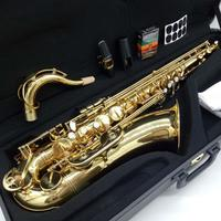 Free Shipping Music Fancier Club Tenor Saxophone Gold Lacquer Professional Tenor Sax With Case Reeds Neck Mouthpiece