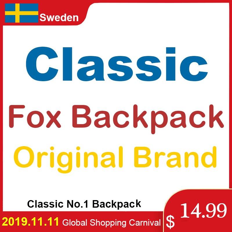 7L 16L 20L Classic Fox Kan Brand Backpack Men Women Waterproof Backpack Laptop Travel Bags Teenage Student Schoolbag Mochila
