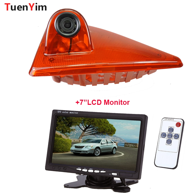 Brake Light Rear View Camera For Renault_Master/Nissan-NV40/Opel_Movano 2010-2016 With 7Inch LCD Monitor 2In1 Parking Kit