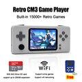 Novas ofertas retro cm3 handheld console de jogos de vídeo pré-instalado 10000 + jogos clássicos jogadores de jogos portáteis com os cartões de memória