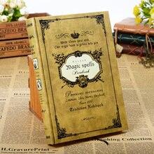 160แผ่นVintage MagicสะกดหนังสือHandcoverโน๊ตบุ๊คสมุดบันทึกนักท่องเที่ยวโน๊ตบุ๊คกระดาษคราฟท์ของขวัญ