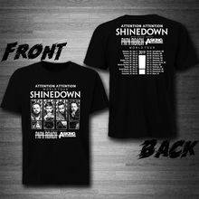 лучшая цена Shinedown With Papa Roach, Asking Alexandria Tour 2019 T-Shirt Tee Exclusive Printed Mens T Shirt