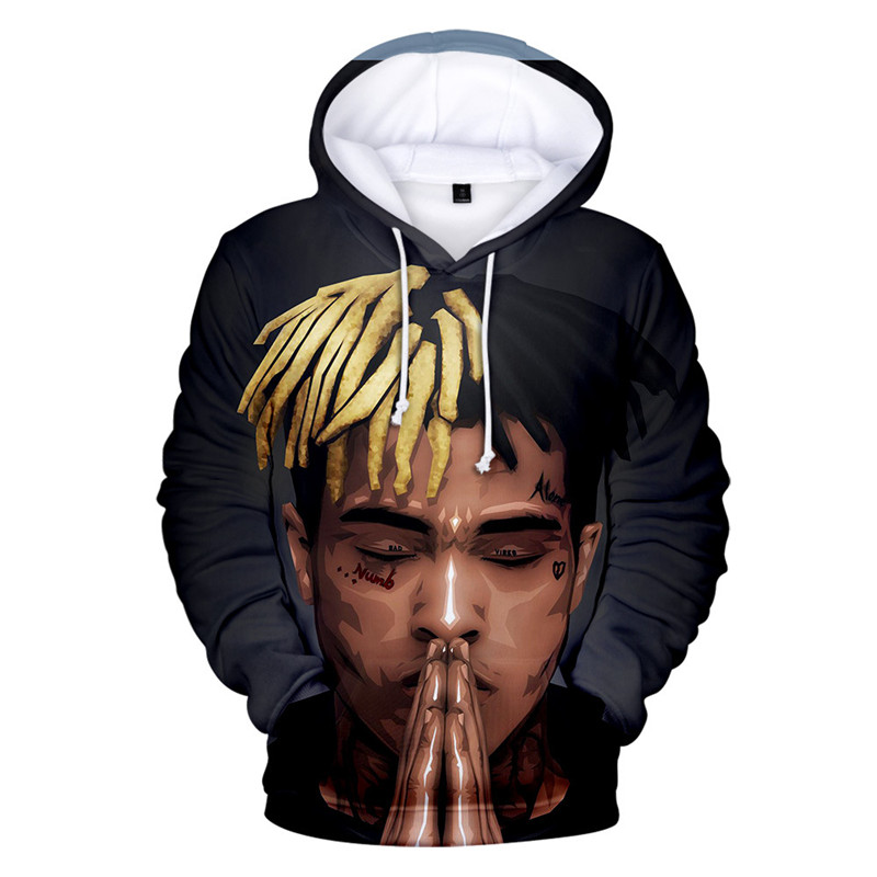 2019 New Xxxtentacion 3D Print Hoodies Men/Women Fashion Funny Hip Hop Streetwear Winter Autumn Fleece Hooded Sweatshirts Male