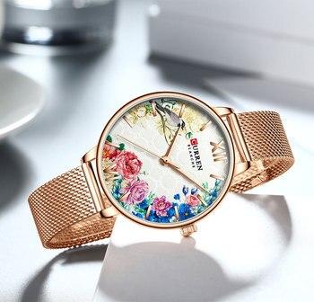 Top Brand Fashion Luxury Rose Gold Blue WristWatch Casual Fashion Women Watches Quartz Clock Gift Watch Woman Montre Femme 4