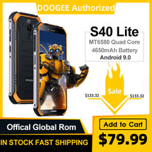 IP68 DOOGEE S40 Lite Quad Core 2GB 16GB Android 9.0 Rugged Phone Mobile