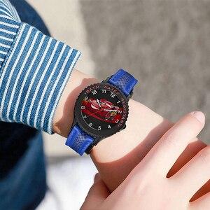Image 5 - Cars Lightning Mcqueen Jackson Storm Kinderen Quartz Disney Horloge Jongen Sport Mode Pu Waterdichte Horloges Kid Horloge Gift