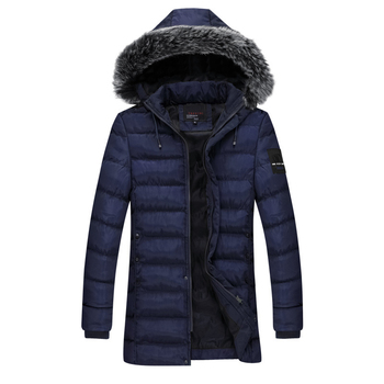 2019 New Casual Water-resistant Detachable Cap Parka Homme Hiver