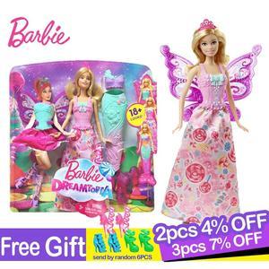 Muñeca Original Barbie de cuento de hadas, vestido de sirena, niña, juego de regalo, regalo de cumpleaños, regalo de Navidad, juguetes para niños, Boneca
