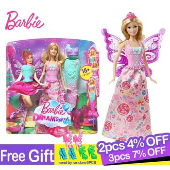 Original Barbie Fairytale Mermaid Dress Up Doll Girl Toys Gift Set Birthday Christmas Present Toys Gift For Children Boneca nk one set original princess doll dress noble party gown for barbie doll fashion design outfit best gift for girl doll