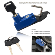 N-MAX125 N-MAX155 Helmet Lock Anti-theft Security with 2 Keys For Yamaha NMAX 155 NMAX 125 2018 2019 2020 Motorcycle Accessories