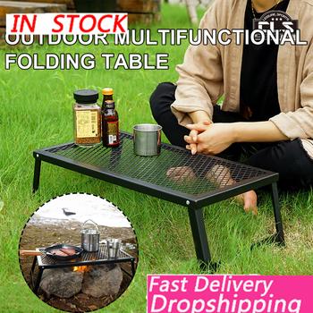 Outdoor Ultralight składany stół siatkowy stół kempingowy przenośny wodoodporny stół do grillowania okazjonalny stół namiotowy stół kempingowy biurko tanie i dobre opinie BEHATRD