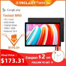 Nieuwste 10.1 Inch Tablet Teclast M40 Android 10.0 6Gb Ram 128Gb Rom Mali-G52 3EE Gpu 8MP Camera Bluetooth 5.0 4G Telefoongesprek Wifi
