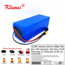 KLUOSI 10S4P 36V 12.8Ah 12Ah 36V Battery 42V Lithium Battery Pack for 750W Ebike Electric Car Bicycle Motor Scoote with 25A BMS