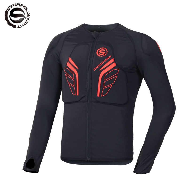 Veste de Moto équipement de Protection été Motocross veste de Protection Moto course armure de corps hommes Moto armure noir