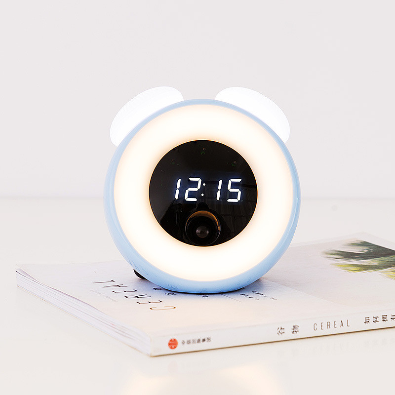 Alarm Clock LED Mirror Lamp Multifunction Snooze Display Time USB Sound Control Sensor Night Light Bedside Baby Feed Table Lamp in LED Night Lights from Lights Lighting