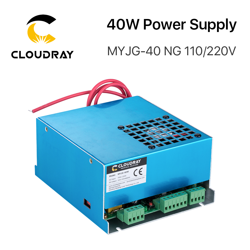 Cloudray 40W CO2-laservoeding MYJG-40T 110V 220V voor CO2-lasergravure snijmachine 35-50W MYJG