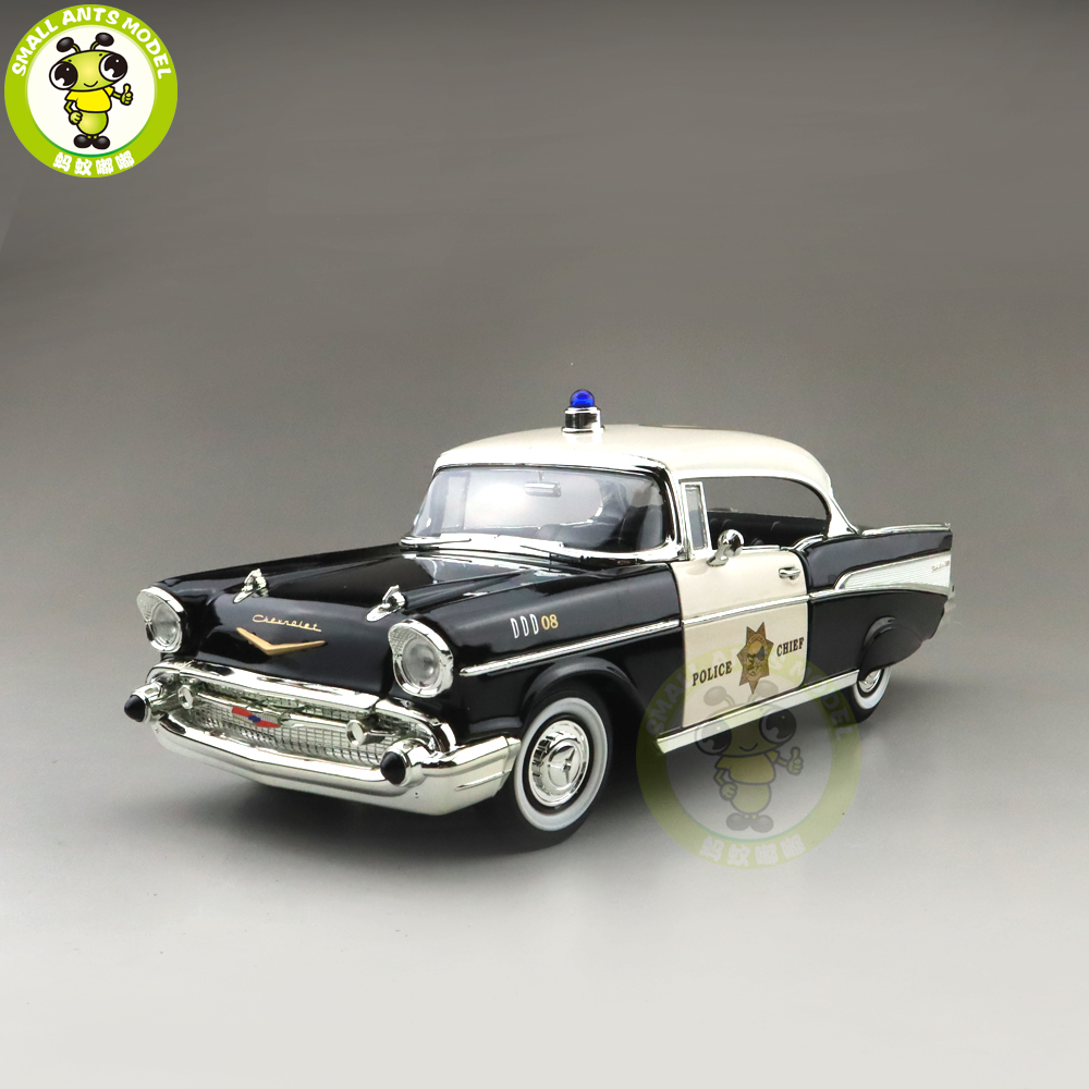 1/18 1957 Chevrolet BEL AIR Po Lice Version Road Signature Diecast Model Car Toys Boys Girls Gift