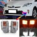 СВЕТОДИОДНЫЙ DRL головной светильник для Toyota Prius ZVW30 2012-2015 светодиодный туман светильник вождения светильник переднего бампера Туман светиль...