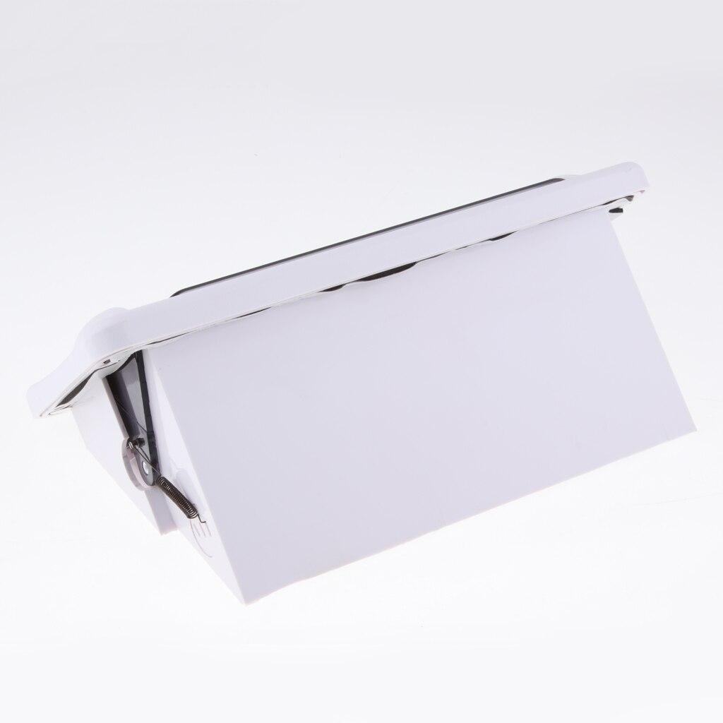 Universal Marine Boat Car Radio Shield Waterproof Cover, Stereo Housing Case  Splash Guard, White