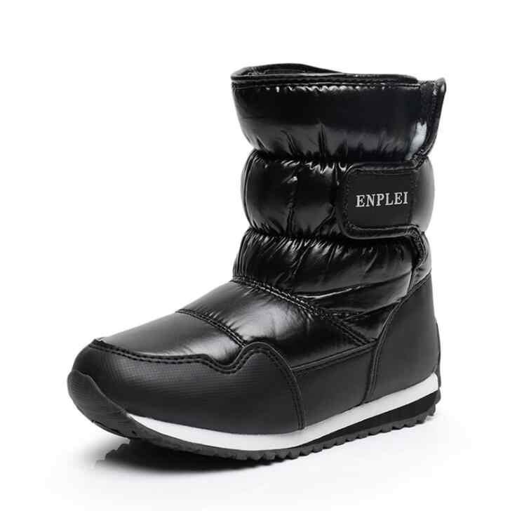 2019 חדש ילדי שלג מגפי ארנב חם חורף מגפי אופנה קטיפה תינוק נעלי מים הוכחה סניקרס בנות בני מרטין מגפיים