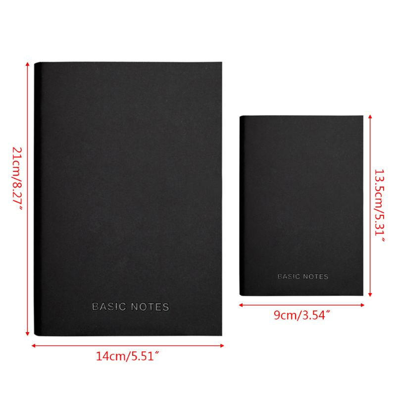 Creative Notebook Black Leather Cover Notepad Diary Planner Business Style Blank Line Pages School Office Supplies 19QA
