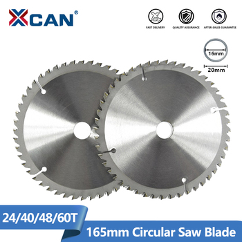 цена на XCAN 1pc 165mm 24/40/48/60T Carbide Wood Saw Blades for Multi-function Power Tool TCT Circular Saw Blade Wood Cutting Disc
