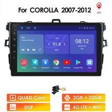 10 2Din android Car Radio Player Multimídia Para Toyota Corolla E140/150 2007 2008 2009 2010 2011 2012 2013 2014 2015 2016 2 din