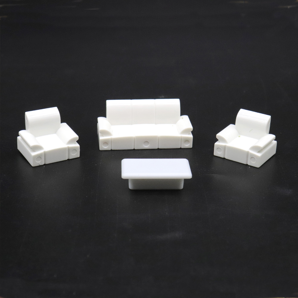 Architectural Layout Design Furniture Model Set Toy Contains (3 Sofas And 1 Table) 1:50 Scale 10 Sets For The Interior Landscape