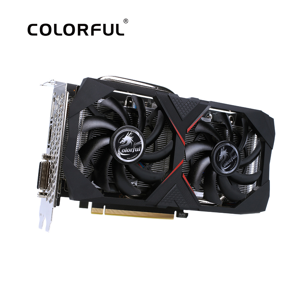 Colorful GeForce RTX 2060 6G Graphic Card Nvidia GDDR6 GPU Gaming Video Card 1365-1680Mhz PCI-E 3.0 Placa De Video For  PC