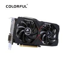 Renkli GeForce RTX 2060 6G grafik kartı Nvidia GDDR6 GPU oyun Video kartı 1365 1680Mhz PCI E 3.0 placa de video PC