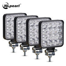Nlpearl 42W 48W Mini LED Work Light Bar Spotlight Led Bar Offroad 12V 24V LED Light Bar For Truck Off road 4X4 4WD SUV Car ATV