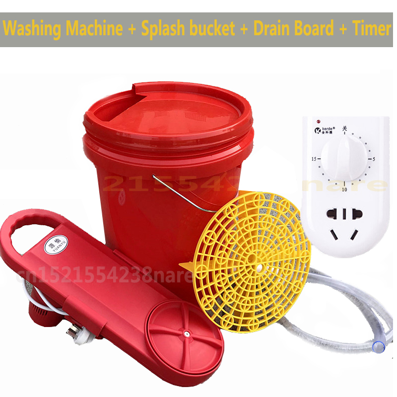 HOT 220V Portable mini Clothes Washer Timing Washing Machine with Prevent Splashing 20L Bucket Clothes Dryer with 1m Drain 150W image