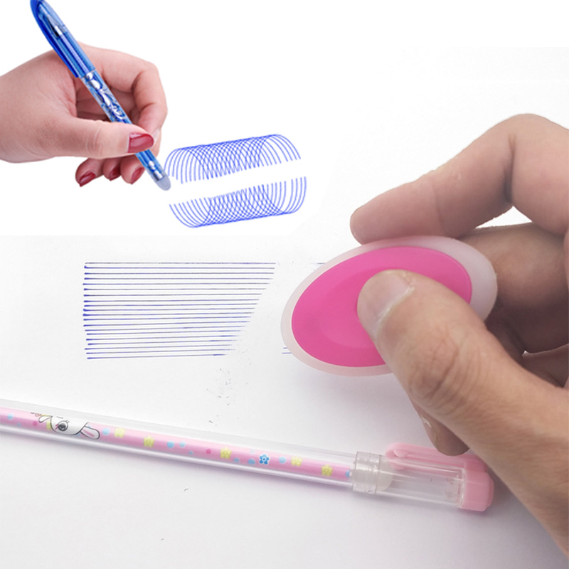 50+3pcs Erasable Pen Set 0.5mm Washable Handle Magic Erasable Gel Pen Refills Rod Blue Black Ink Pen Students Kawaii Stationery 5