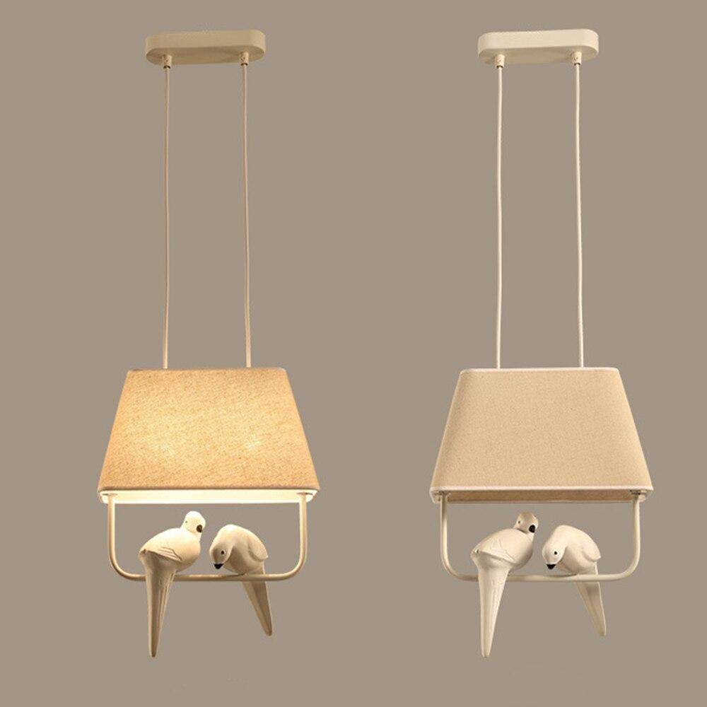 Tuch anhänger lampe moderne kreative Vogel leuchte Hause hängen lichter für schlafzimmer cafe hotel restaurant wohnzimmer dekorationen