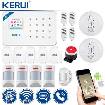KERUI WI8 Pet Immune PIR Detector Smart WIFI GSM Burglar Security Alarm System Smoke Detector Fire Protection 1