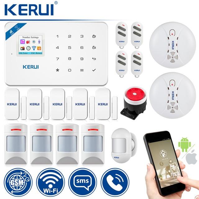 KERUI WI8 Pet Immune PIR Detector Smart WIFI GSM Burglar Security Alarm System Smoke Detector Fire Protection 1