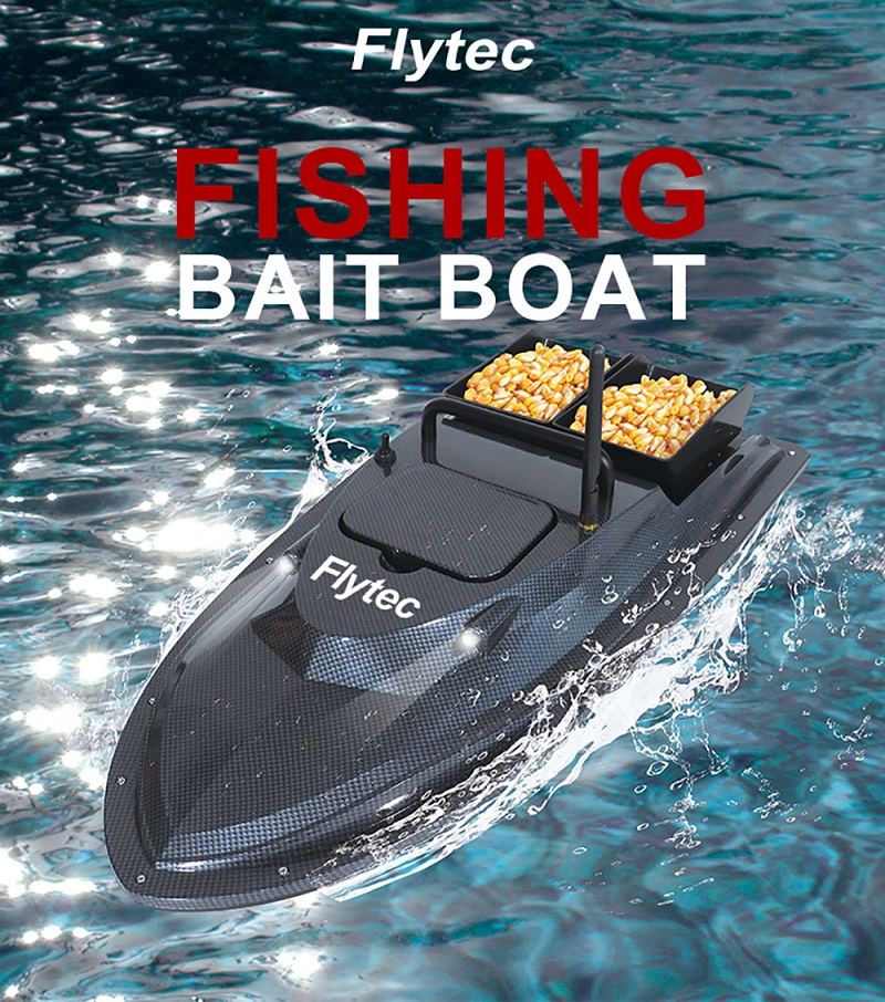 Flytec V007 RC Boats 4CH 2.4GHz 500m Control Fishing Finder Bait Double Motor Remote Control Boat High Speed 4.8km/h Speedboat image