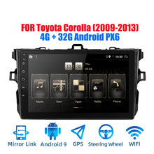 2DIN Android 9.0 Ouad Core PX6 Radio Stereo Cho Toyota Corolla 2009-2013 GPS NAVI Âm Thanh Video wifi BT HDMI DAB +(China)