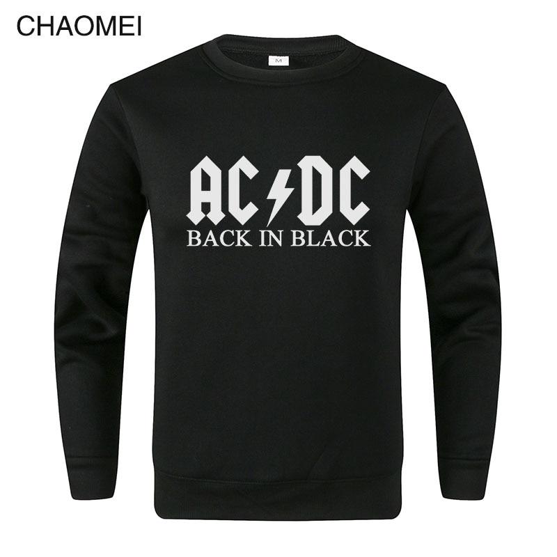 Brand AC DC Sweatshirts Men Hip Hop Rock Band ACDC Sweatshirt Male Casual Streetwear Hoody Men/Women Pullover C107
