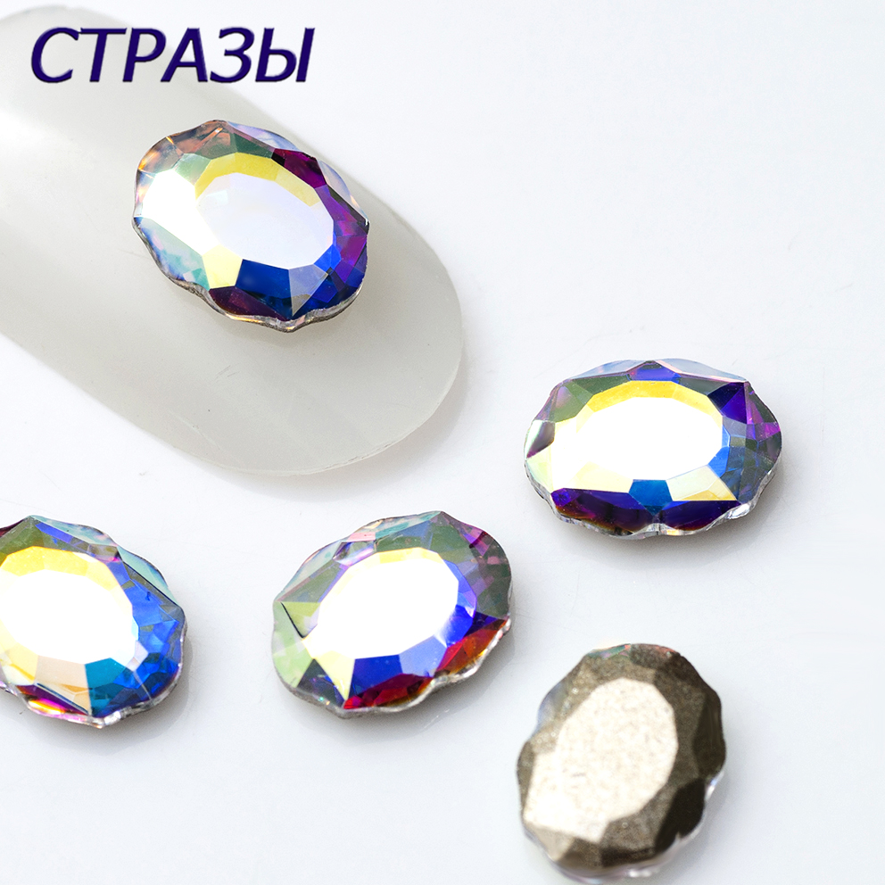20PCS AB Colors crystal TOP Hot Nail Rhinestones Baroque Mirror Pixie Fancy stone 3D Manicure Nail Art Decoration Charms Jewelry
