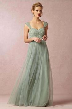 Backless Cheap Bridesmaid Dresses Under 50 A-line Sweetheart Tulle Lace Long Wedding Party Dresses