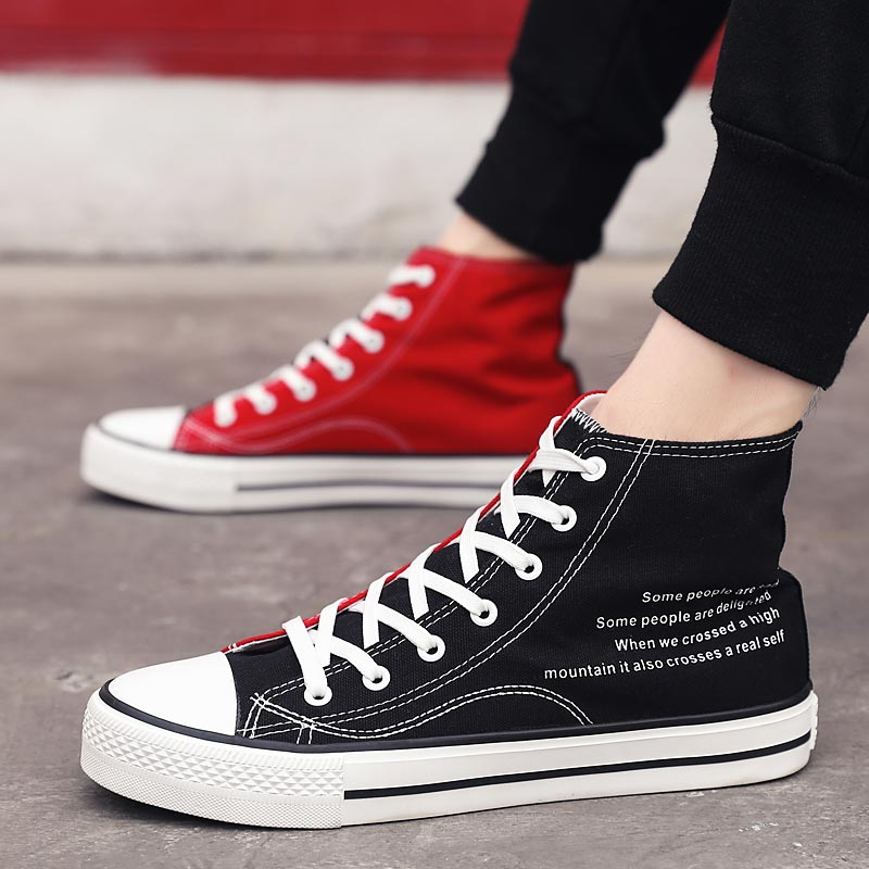 High Top Sports Shoes For Male Sneakers Men Running Shoes Women Sport Shoes Man Trainers Men Breathable Black Red Athletic A-377