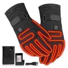 Перчатки с подогревом 37 в водонепроницаемые перчатки и сенсорным
