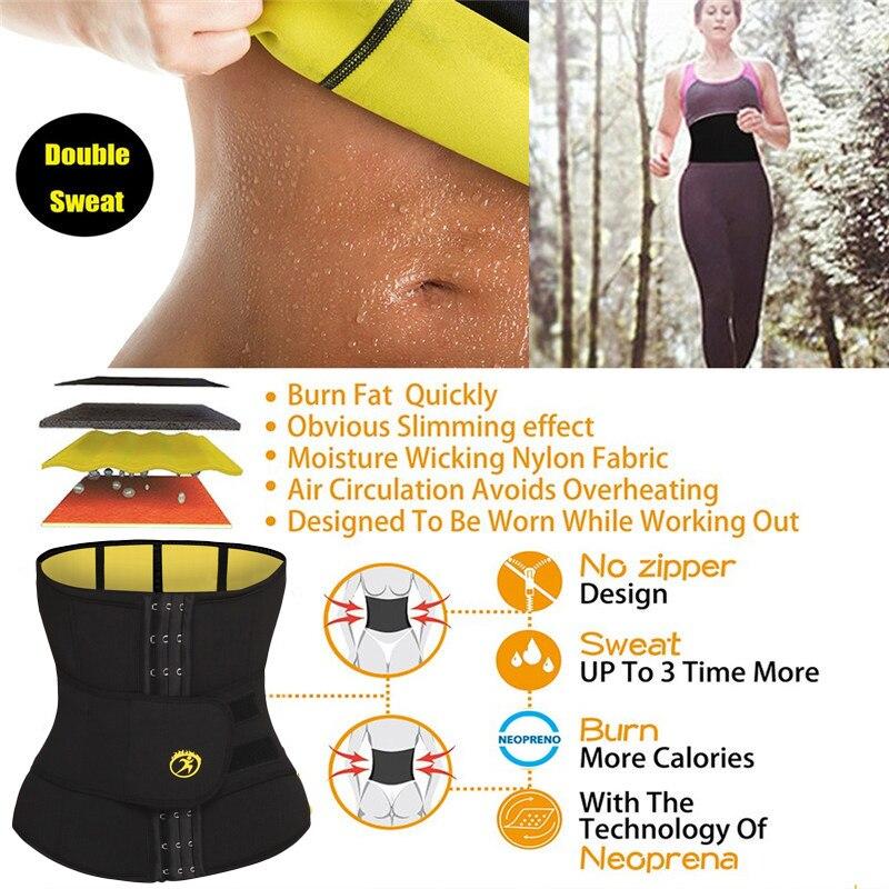 Image 3 - NINGMI S 6XL Waist Trainer Women Slim Waist Belts Tummy Body Shaper Corset Slimming Underwear Neoprene Shapewear Strap Plus Size-in Waist Cinchers from Underwear & Sleepwears